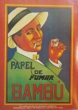1976 Bambu Marijuana Cigarette Papers Carle Place New York Vintage Print Ad