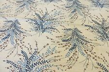 VINTAGE Style ~ Blue Leaves/Sprays ~ TOPPER/SUPPER CLOTH * COUNTRY CHIC *