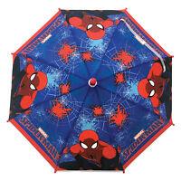 ULTIMATE SPIDER-MAN UMBRELLA LICENSED KIDS CHILDRENS POE EMBOSSED BLUE RED BOYS