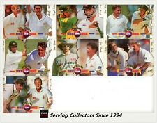 1997/98  Select Cricket Trading Cards BOX TOPPER CARD Full Set (7 Cards)