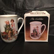 """Vintage 1982 Norman Rockwell """"The Gobbler� Collector's Porcelain Mug"""