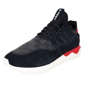 Adidas Tubular Moc Runner Men's Shoes Black White Mesh Sneakers B24693 SZ 10 New