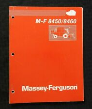 GENUINE 1990 MASSEY-FERGUSON MF 8450 MF 8460 COMBINE OPERATORS MANUAL VERY GOOD