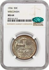 1936 Wisconsin 50c NGC/CAC MS64 - Silver Classic Commemorative