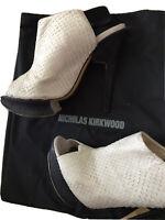 NICHOLAS KIRKWOOD SS10 white SLING-BACK python £895 UK 6 EU 39 heels RUNWAY shoe