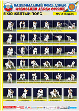 Posters JUDO. Yellow  belt  1 poster.The technique of judo.NAGE WAZA.