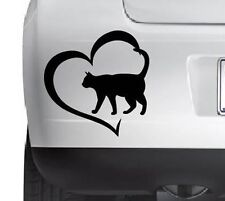Cat Lowers Heart Cute Cat Vinyl Decal Sticker Wall Car Any SmoothSurface
