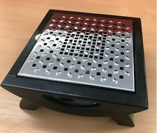 Food Warmer Candle 1 Burner Black Stand Stainless Steel Lid Heating Warm Food