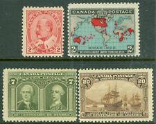 EDW1949SELL : CANADA 1898-1908 Scott #86, 90 MNH. #100, 103 Mint OG LH Cat $565