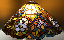 Vintage Tiffany Style Lead Hanging Glass Light Lamp Shade