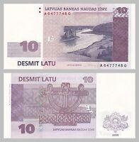 Lettland / Latvia 10 Latu 2008 p54 unz.