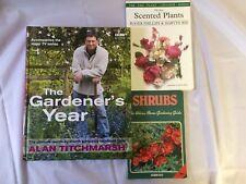 x3 Gardening Books - Shrubs - The Gardener's Year - The Best Scented Plants