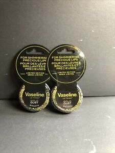 NEW! Lot of (2) Vaseline Lip Therapy Gold Dust Limited Edition Shimmer