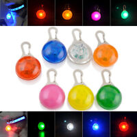Dog Cat Puppy LED Flashing Safety Collar Pet Mini Keyring Night Light Pendant