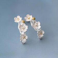925 Sterlingsilber Ohrstecker Ohrringe Kirschblüte Blüte Silber Blume Echt Boho