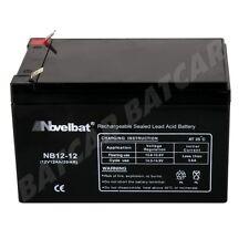 Novelbat 12V 12Ah AGM Batterie Echolot, Angelsport, Versorgungsbatterie