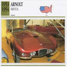 1953-1954 ARNOLT BRISTOL Sports Classic Car Photo/Info Maxi Card