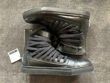 KRIS VAN ASSCHE Multi Lace High Top Men's Sneaker - BLACK (SIZE 45/US12) NEW!