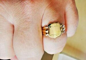 Vintage gold signet ring, hallmarked Chester Circa 1955, Free Insured P&P #Mm