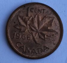 1968 Canada 1 Cent Penny Coin Maple Leaf
