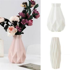 Origami Plastic Vase White Imitation Ceramic Flower Pot Flower Basket NEW