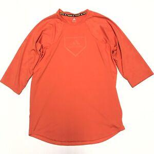 Adidas Climacool Phenom Youth XLarge 3/4 Sleeve Orange Performance Shirt