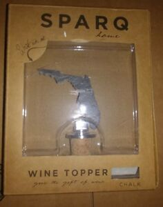 SPARQ HOME SLATE with CHALK CORK WINE BOTTLE TOPPER - FLORIDA- NEW