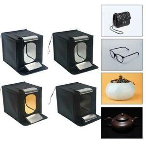 Studio Luce Tenda LED Fotografia 70cm Foto Box Portatile Sfondo Pieghevole Cubo