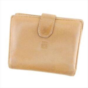 Loewe Wallet Purse Monogram Mini Agenda Brown Woman unisex Authentic Used T6905