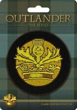 Outlander Crown and Thistle Embroidered Patch (2016)