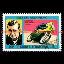 SIMMONDS Dave Pilote KAWASAKI GUINEA Moto Timbre Poste Stamp