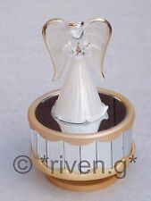 ANGEL@MUSIC Box@Angelic GIFT@AMAZING GRACE@GLASS@Angelic Keepsake@Unique@CRYSTAL