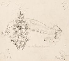 UNBEKANNT (19. Jhd.), Entwurf für eine Weihnachtskarte, Zeichnung
