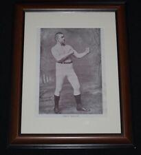 RARE 1893-94 Boxing Folio Page Framed * JOHN L. SULLIVAN * Heavyweight Champion