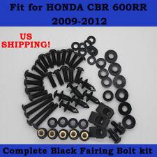 Complete Screws Black Fairing Bolt Kit fit for HONDA CBR600RR F5 2009-2012
