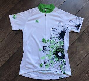 Giordana Jersey Suite Velo White Green Flower FRC Size M Zip