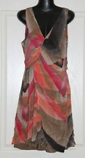 Womens size 8-10 pretty silk blend dress made by OJAY