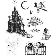 Tim Holtz Cling Stamps - Haunted House