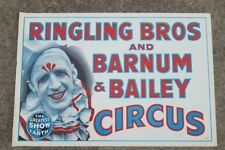 Large VIntage 1940's - 50's Ringling Brothers Circus Poster - Pat Valdo Clown