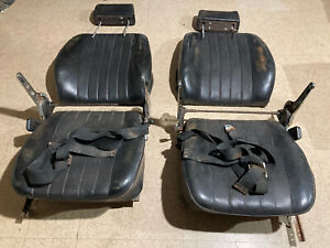 genuine porsche 911 912 Front Seats W/Seat Belts W/headrest Set Left Right 67-73
