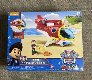 New Paw Patrol Sub Patroller Transforming Vehicle w/ Lights, Sounds and Launcher