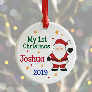 Personalised Baby's My 1st Christmas Tree Bauble First Xmas Decoration Gift Idea