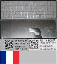Azerty French Keyboard SONY VAIO SVE15 149080911FR 9Z.N6CBQ.H0F White frame