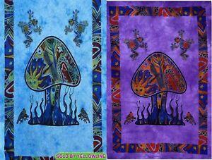 2 piece Mushroom Tapestry Bohomen Indian Wall Hanging Wholesale (77cmX102cm)TP-4