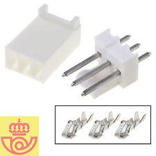 (lote 5pcs) Conector Molex 3 pines 2,54mm THT M+H (Arduino, PCB, prototipos)