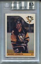 1985 OPC Hockey #9 Mario Lemieux Penguins Rookie Card RC BGS 8.5 O-Pee-Chee