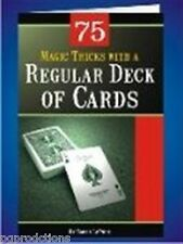75 MAGIC TRICKS PERFORMED with REGULAR DECK OF CARDS BOOKLET How To Playing Book