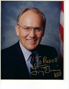 "US Senator Larry Craig signed Color Photo 8"" x 10"" w/COA"