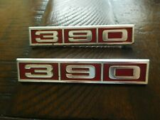 1968 Ford Galaxie 390 Fender Emblems Oem C8ab 16237 D