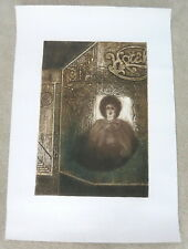 """VINTAGE LOIS POLANSKY ETCHING A HOTEL WINDOW  40"""" X 28"""" UNFRAMED SIGNED NUMBERED"""